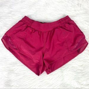 """Lululemon Hotty Hot Shorts 2.5"""" Violet Red"""